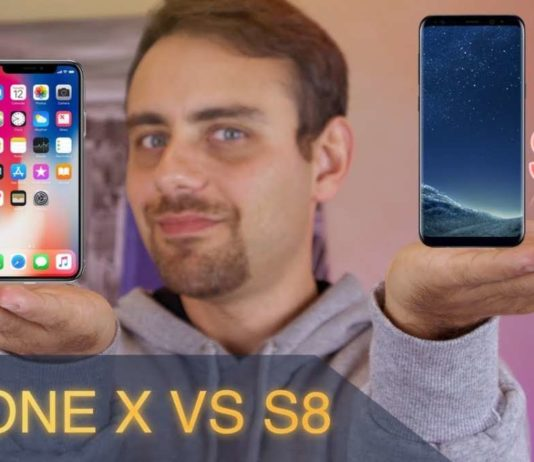 iPhone x VS S8