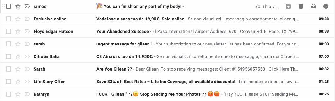 Direct Email Marketing - Esempi di Mail Spam