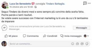 copywriting persuasivo roibook m - testimonianza luca de benedetto