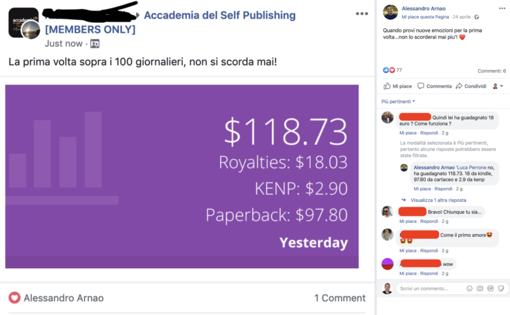 alessandro arnao corso libretti self publishing kindle publishing pagina facebook
