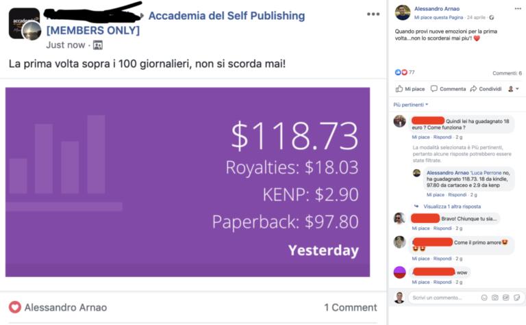 Alessandro Arnao Corso Kindle Publishing: recensioni ed opinioni sul corso Accademia del Self Publishing
