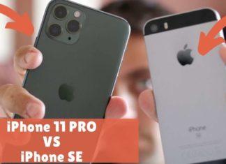 iphone 11 pro vs iphone se comparativa confronto