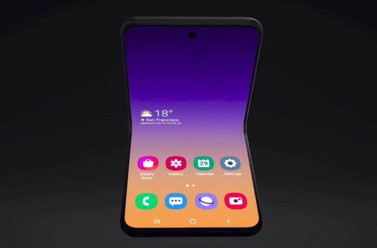 Samsung, design a conchiglia per il successore di Galaxy Fold