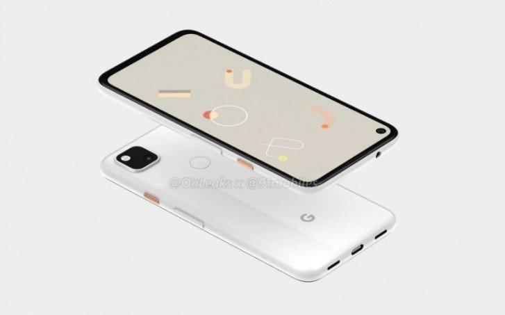 Google Pixel 4a, i primi render