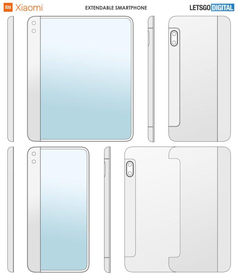 xiaomi smartphone srotola brevetto