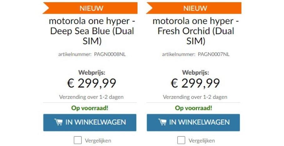 motorola one hyper prezzo