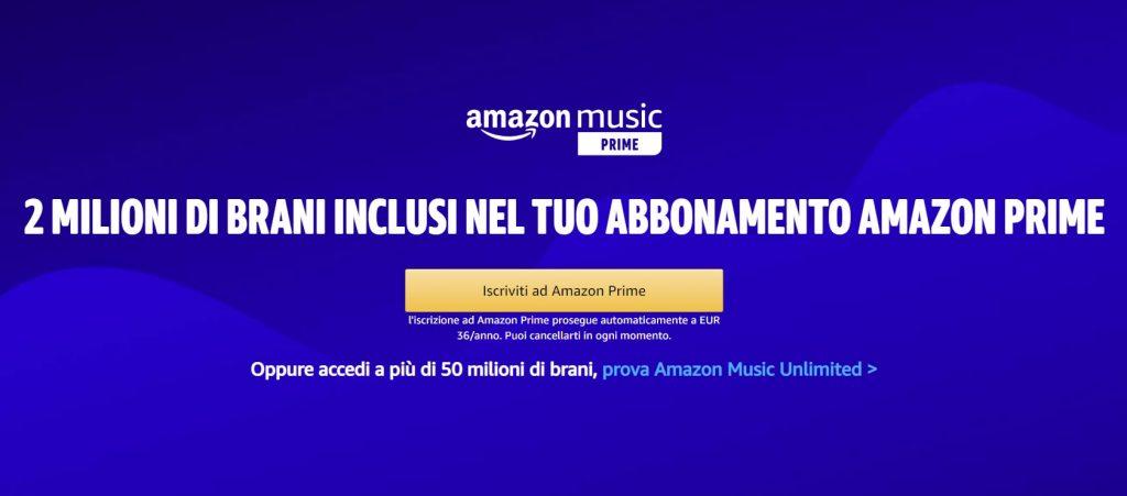 amazon prime music come funziona