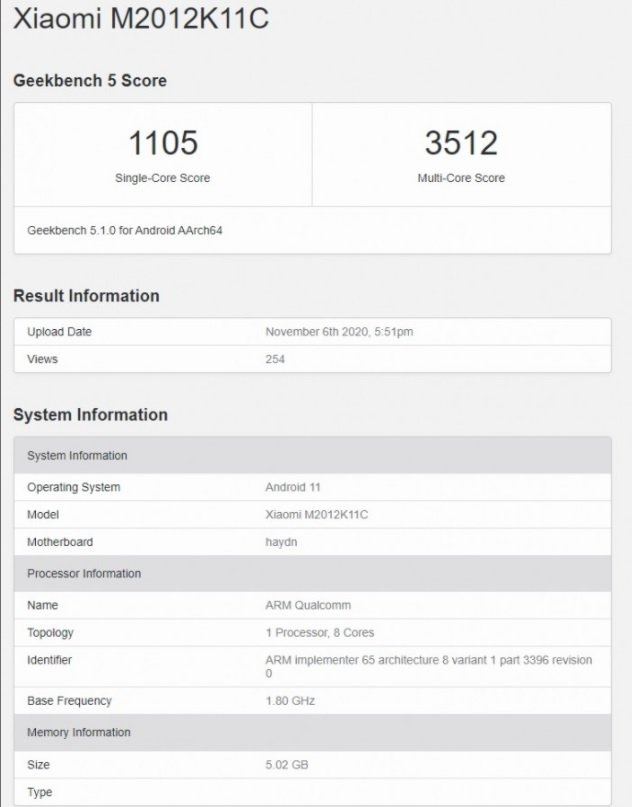 xiaomi snapdragon 875 test