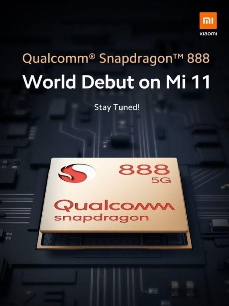 Xiaomi Mi 11 sarà il primo smartphone al mondo con processore Snapdragon 888