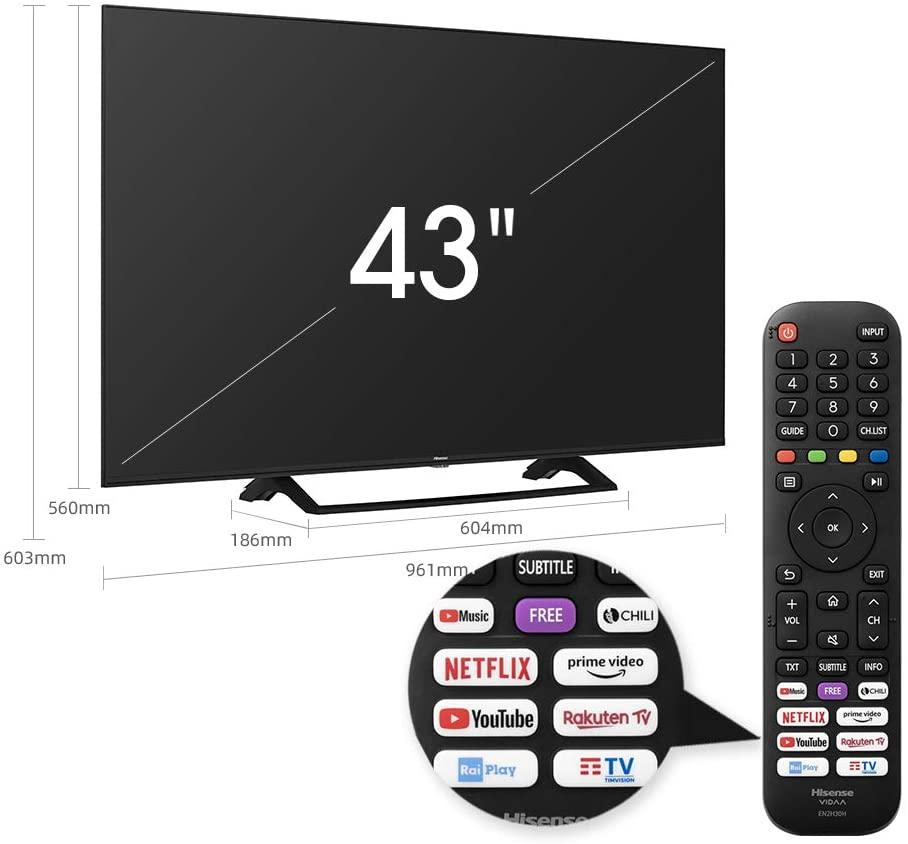 tv 4k hisense 43 pollici